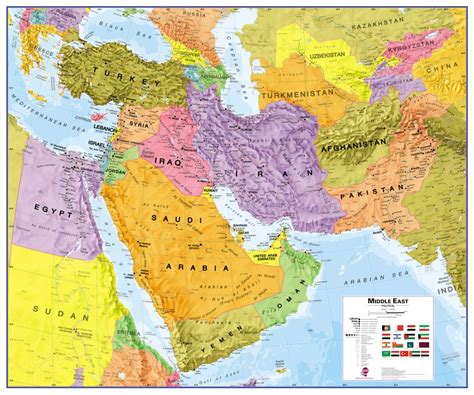 middle east map review wandkaart middle east midden oosten 120 x 100 cm maps