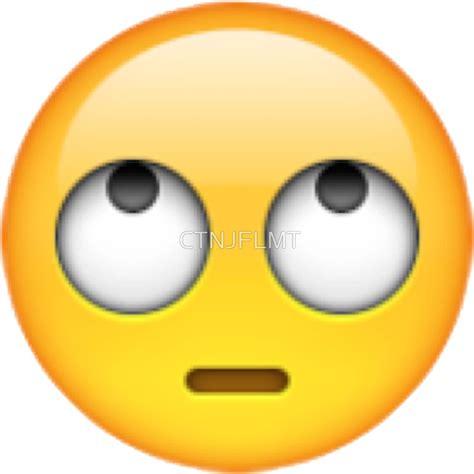 emoji eye roll quot eye rolling emoji quot stickers by ctnjflmt redbubble