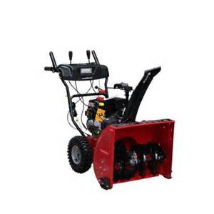 snow blowers at home depot powersmart 24 in 208cc 2 stage gas snow blower with headlight