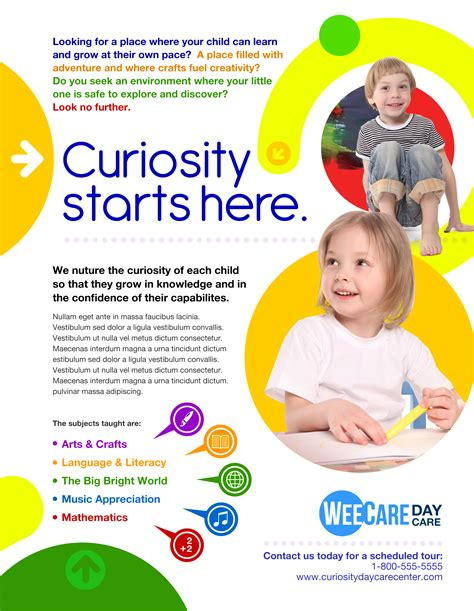 Daycare Advertising Exles by Marketing Day Care Marketing Communications Design