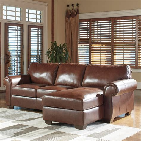 ashley furniture leather sectional with chaise signature design by ashley lugoro leather match 2 piece