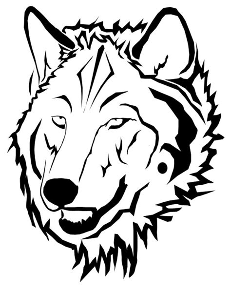 how to draw a angry wolf face clipart best