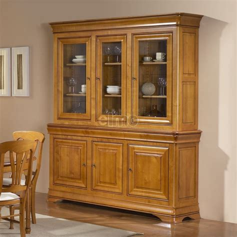Attrayant Tres Belle Cuisine Equipee #4: Bibliotheque-vitrine-2-corps-merisier-massif-style-louis-philippe-passion.jpg