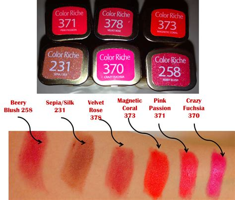L Oreal Color Riche loreal lipstick shades numbers www pixshark images