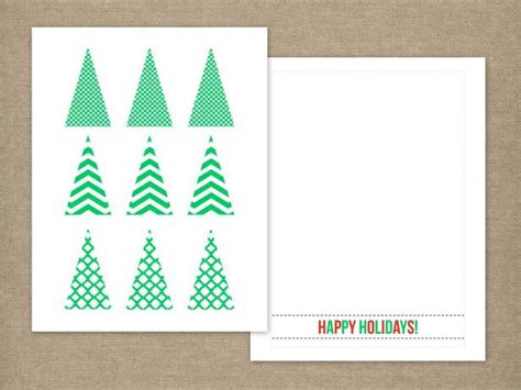 Handmade Christmas Tree Card Hgtv Tree Template For Cards