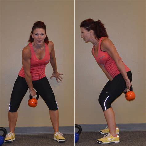 basic kettlebell swing basic kettlebell workout popsugar fitness