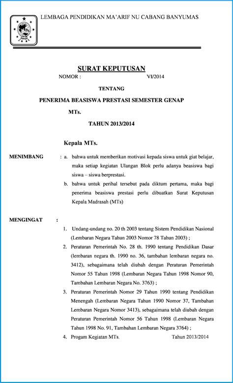 surat keputusan beasiswa prestasi niddumulu dot