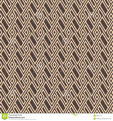 pattern geometry brown seamless retro geometric pattern eps8 vector stock vector