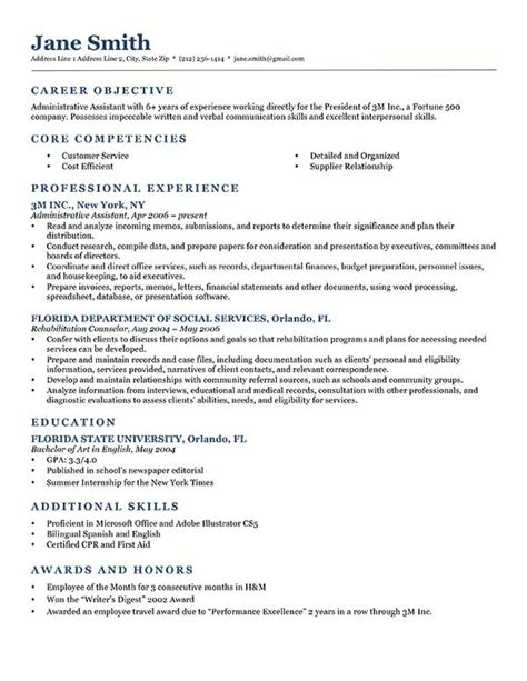 objectives for resumes exles how to write a career objective 15 resume objective