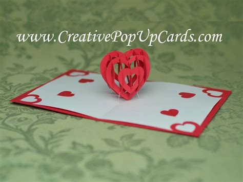 Valentines Cards Templates 3d by S Day Pop Up Card Tutorial 3d