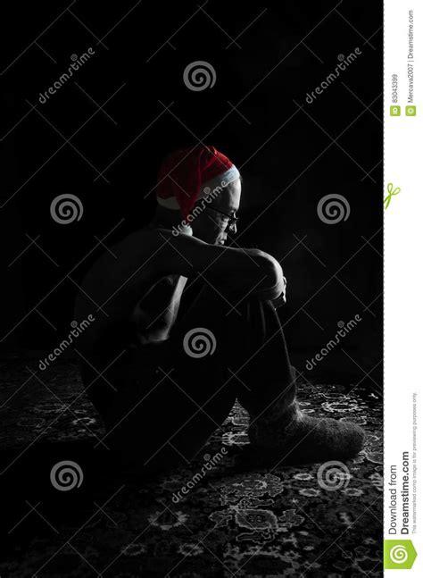 imagenes de navidad sola la navidad de una persona sola imagen de archivo imagen