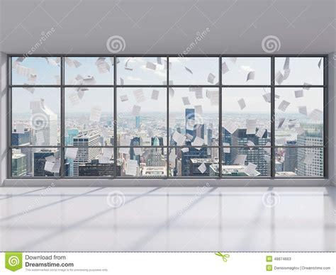 bureau ville la grand bureau avec la grande fen 234 tre image stock image du