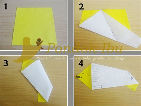 cara membuat origami arnab cara membuat origami singa