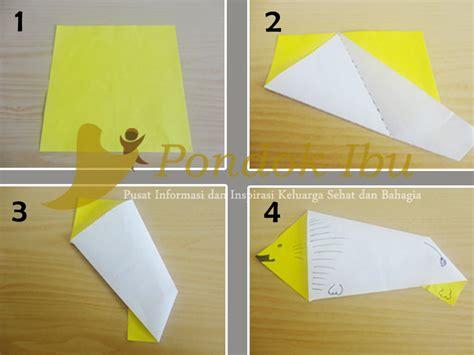 membuat kolase binatang cara membuat origami singa