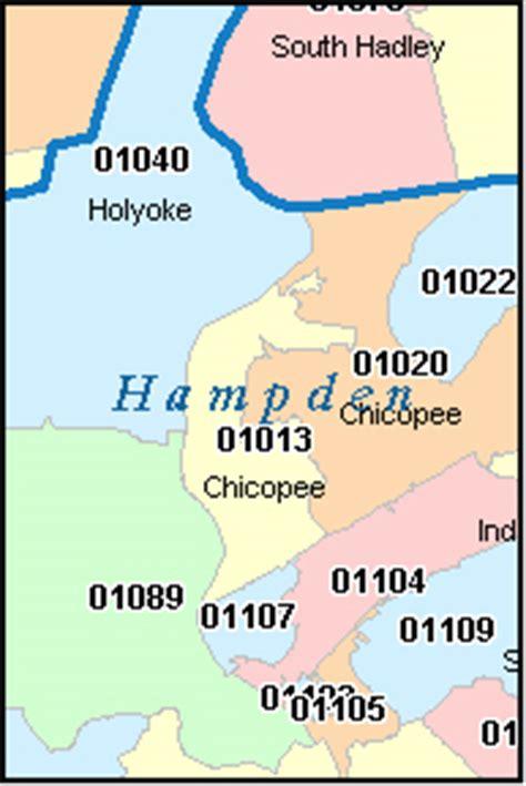 zip code map massachusetts hampden county massachusetts digital zip code map