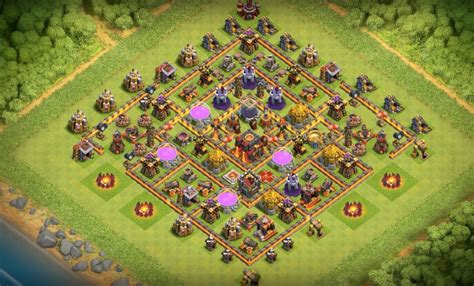 coc base layout th10 16 th7 to th11 farming trophy war base layouts for july