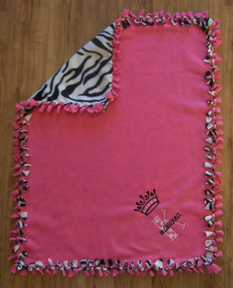 personalized throw blankets with picture personalized monogram custom pink zebra fleece baby
