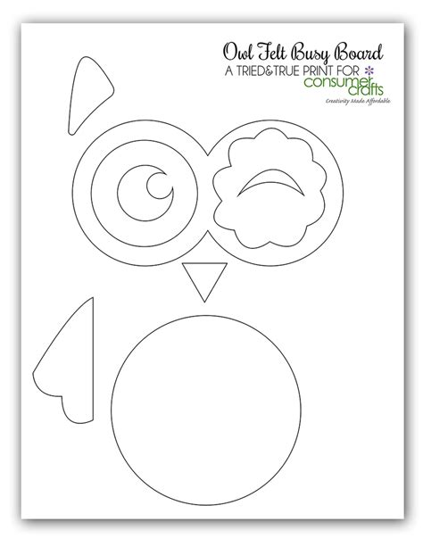 printable felt owl pattern diy busy board craft felt owl crafts unleashed