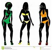 Swimsuit Silhouettes 2 Stock Images  Image 30801024