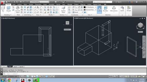 autocad tutorial videos in telugu autocad 2013 3d modeling basics 15 thicken and shell