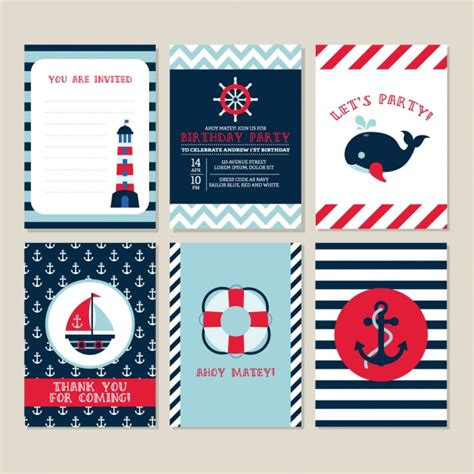 nautical card templates nautical vectors photos and psd files free