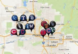 map of ballparks in arizona 2014 mlb cactus league in auto