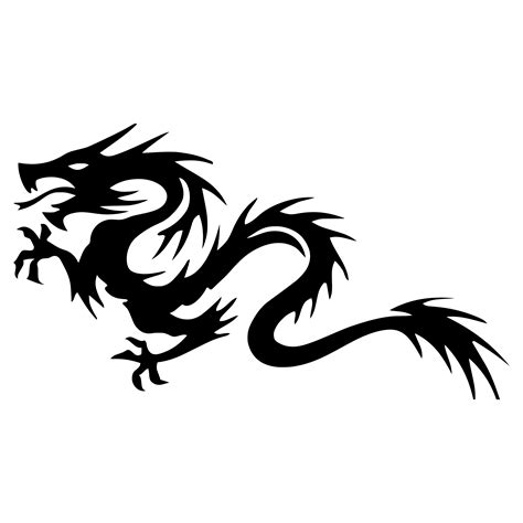 clipart tribal dragon