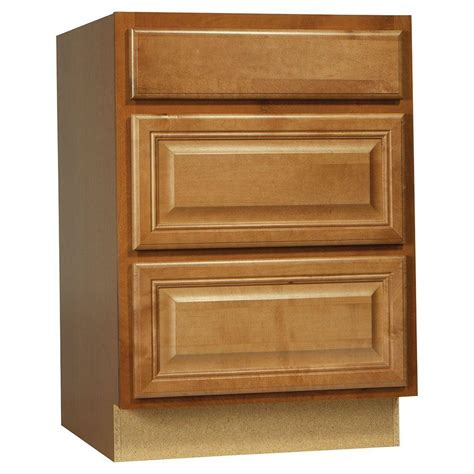 assembled 24x34 5x24 in base kitchen cabinet with 3 hton bay cambria assembled 24x34 5x24 in drawer base