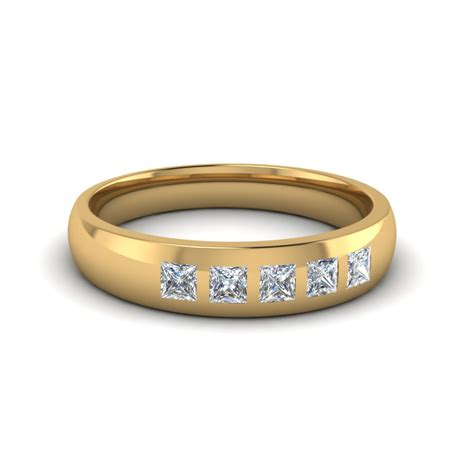 Wedding Bands Yellow Gold With Diamonds by 14k Yellow Gold White S Wedding Band