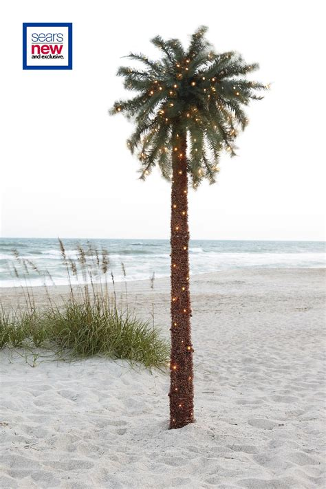 lighted palm tree kmart 10ft lighted palm tree outdoor living outdoor lighting
