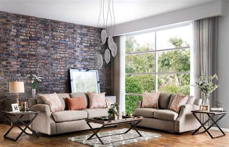 Beltran Orange And Light Gray Living Room Set Sm3058 Sf Orange Living Room Set