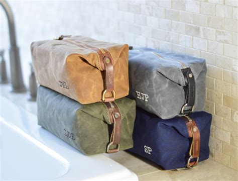 Handmade Toiletry Bag - no 345 groomsmen gift set of 5 to 10 personalized s
