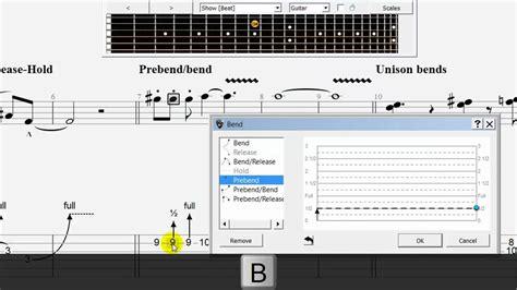 tutorial guitar pro 6 guitar pro 6 video tutorial using the bend tool youtube