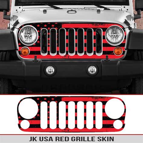 jeep grill skin jeep wrangler jk grille skin usa alphavinyl
