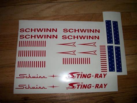 HighQualityDecals : Schwinn STING RAY Sticker replacement