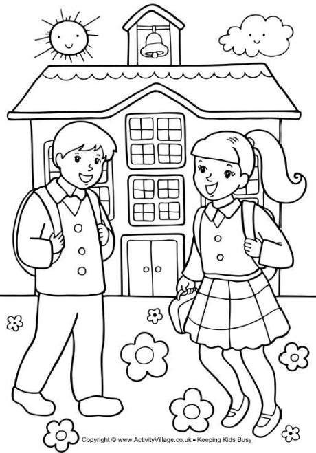 Kids At School Coloring Page   GetColoringPages.com
