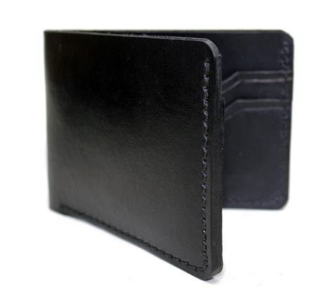 handmade leather wallet mens bifold made in usa on storenvy