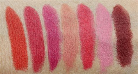 mac matte lipstick swatches mac retro matte collection swatches and review vy varnish