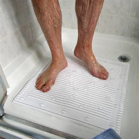 Slipping In The Shower by Square Anti Slip Shower Mat Available From