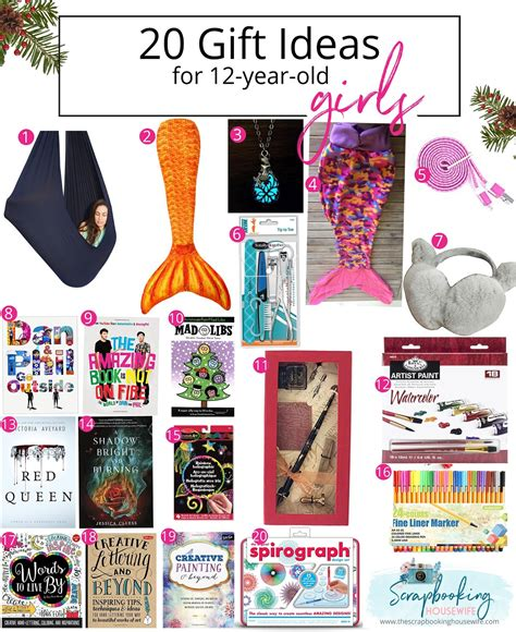 the scrapbooking 20 gift ideas for 12 year
