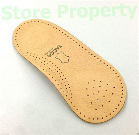 tacco 676 3 4 orthotic arch support leather insoles