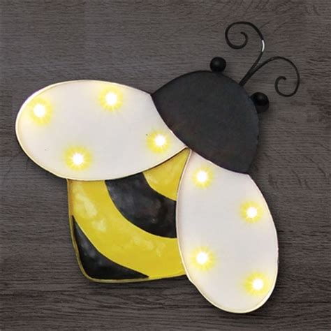 solar metal marquee bumblebee wall decor only 34 99 at