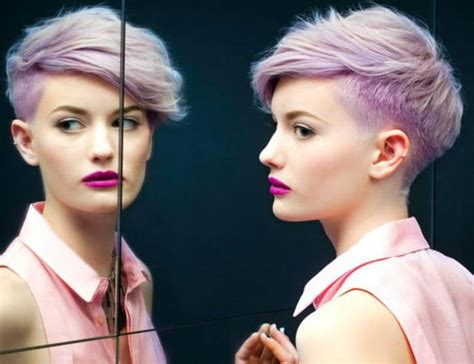 lilac hair color short hairstyles