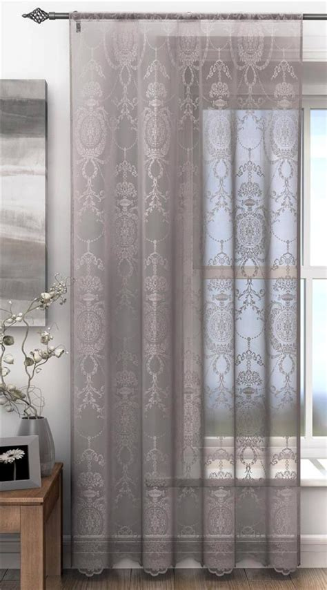 damask voile curtains holly elegant damask lace curtain voile panel many