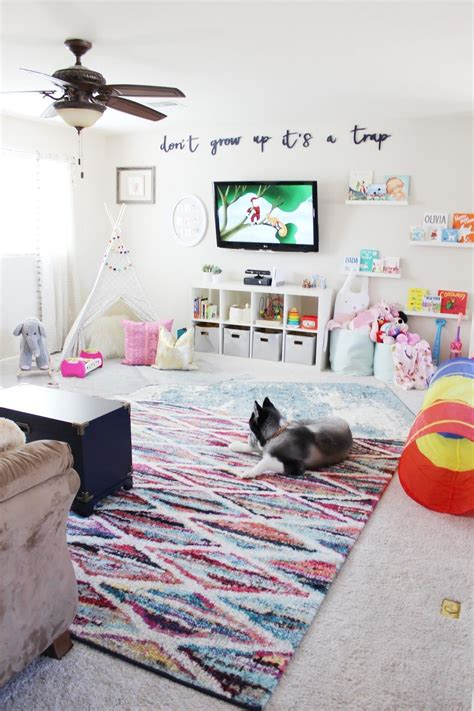playroom reveal by kinch with rugs usa s tracce