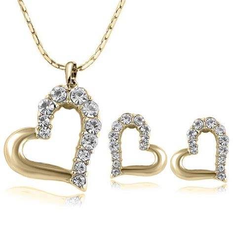 aliexpress jewellery 2015 new 18k gold plated fashion lovely cute double heart