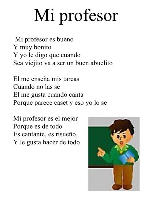 poemas de maestros mi profesor poesia