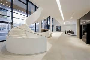 Modern and contemporary office in white interior icade office