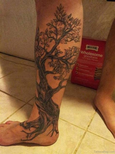 93 best tree tattoos for leg