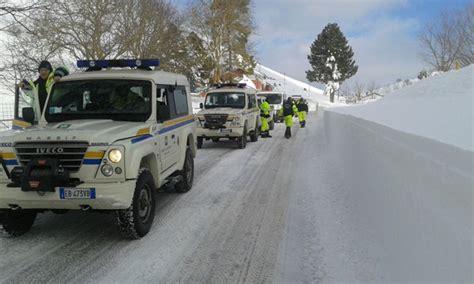 colonna mobile protezione civile emergenza neve 2017 territorio protezione civile e sit